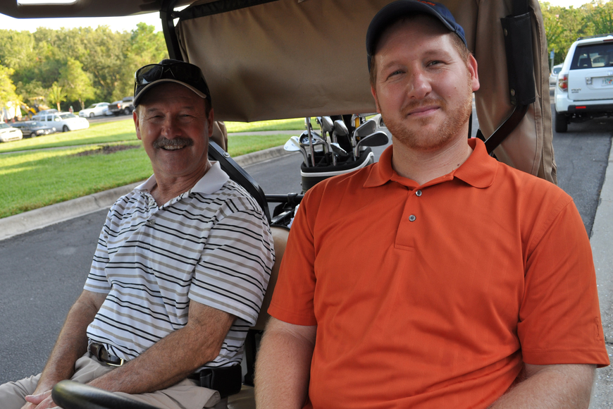 Joe Wolfe golfed with his son, Josh.