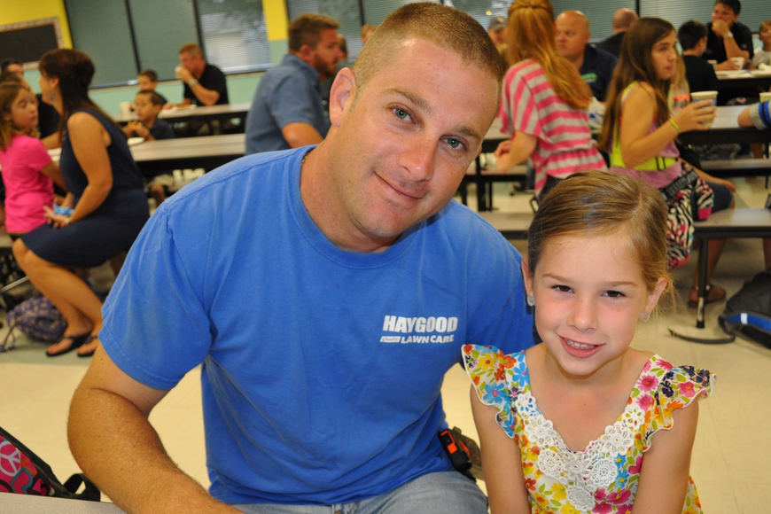 Rob and Macee Haygood enjoyed their second Donuts with Dads event.