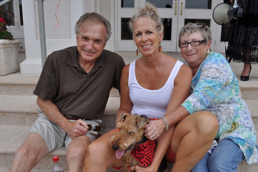 Ron and Jean Voller and their dog, Stoli, and friend Nancy Foley made sure to attend.