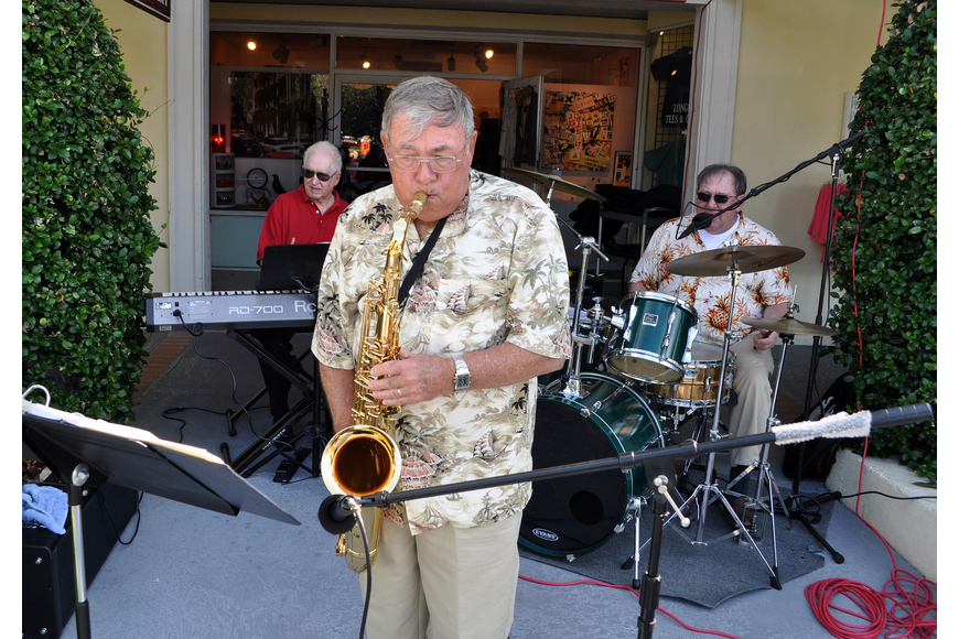 Tom Barrett, Doug White and Don Foster of Tom Barrett Sophisticated Jazz performed Sunday, Oct. 28, during the Fall Festival at the Centre Shops.