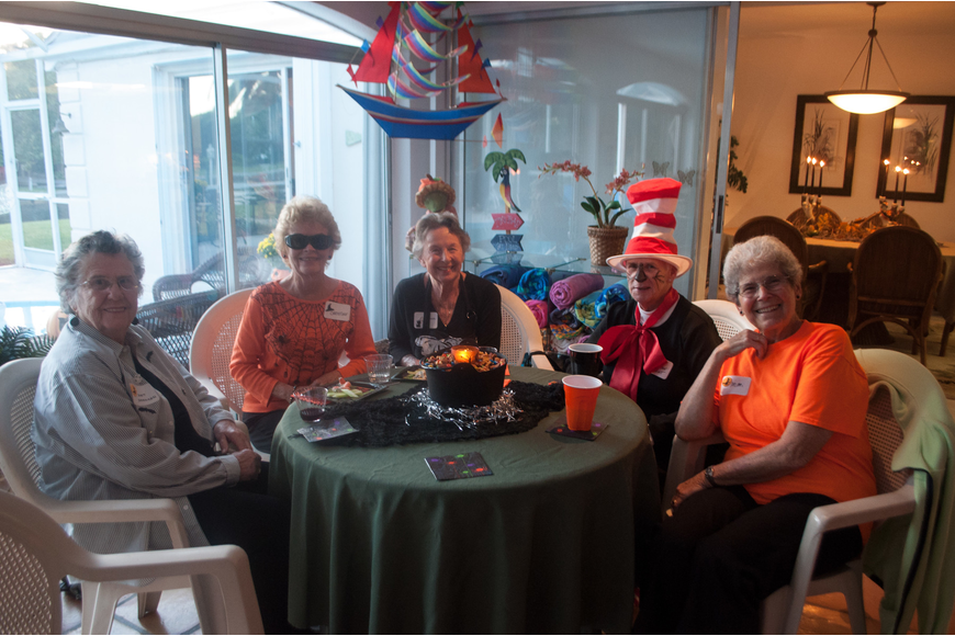 Pat Johnson, Christine Rose Kennedy, Clarice Schetter, Mary Lou Webster and Mimi Horwitz