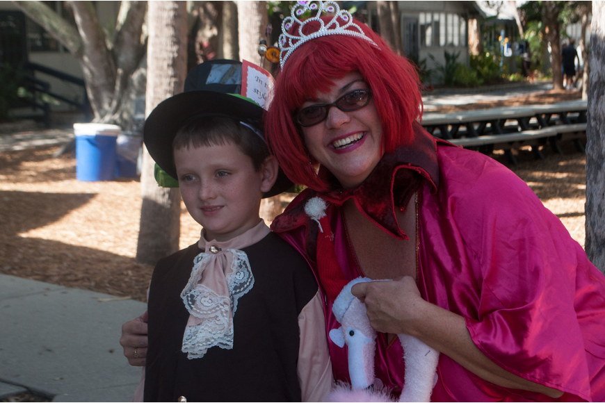 Lisa Pierce was the Queen of Hearts and her son 3rd grader Jack Warner dressed as the Mad Hatter.