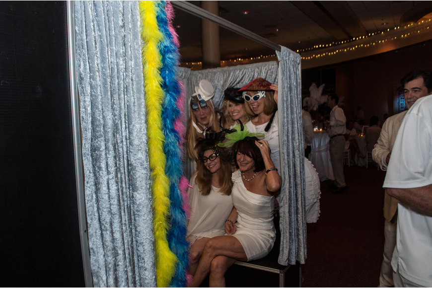 A photo booth was provided to capture memories.