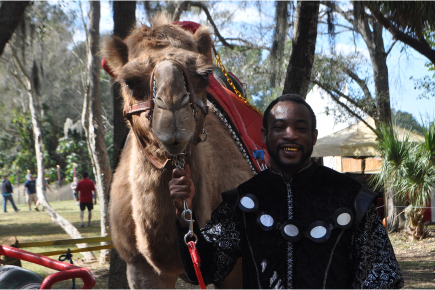 Jeremy Webb and 13 – year old camel Joshua