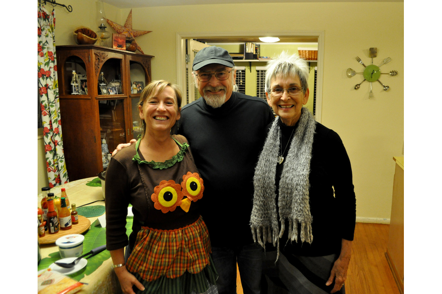 Hosts Theresa and Bob Fieberts with Judy Alexander