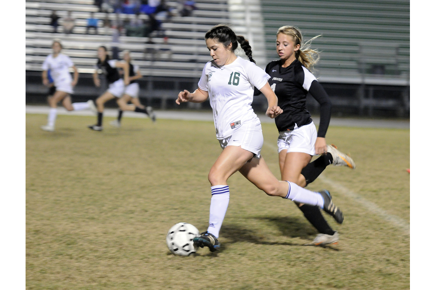 Lakewood Ranch junior Lindsay Martinez was credited with an assist in the second half.