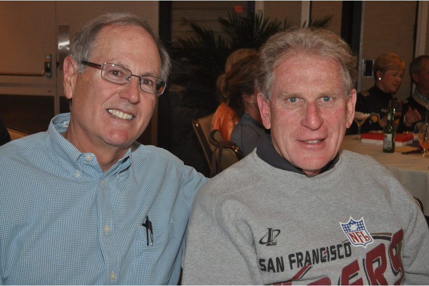 Bill Rosen and John Brown at the Longboat Key Club Super Bowl party
