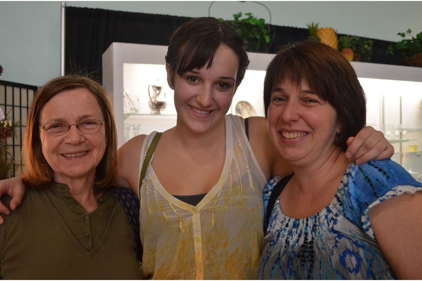 Grandmother Helga Lopatin with her granddaughter Danielle Graham and daughter Joelle Graham