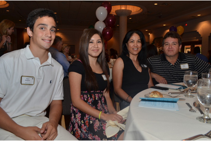Angel Delgado, Samantha Guillen and her parents Pilar and Moises