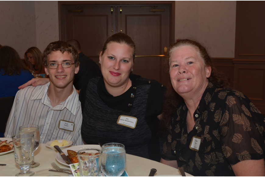 Riverview High School junior Trent Nelson with his sister Joy Jutras – Kacprowicz and mother Donna Warr