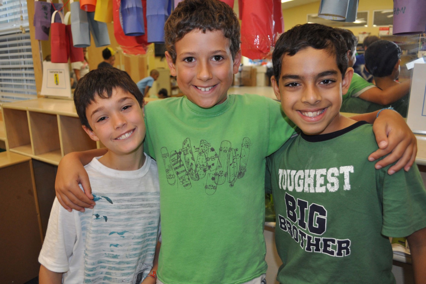 Cayden Kozma, Sulli Henry and Suvan Sethi enjoy the week's activities together.