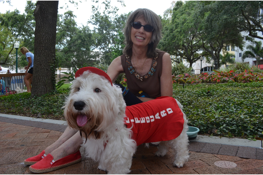 Becky Freed dressed her Sealyham terrier, Duncan, as a lifeguard.