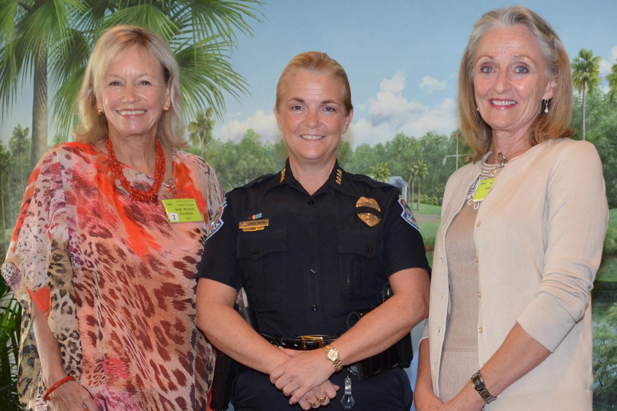 Beth Bertsch, Chief Bernadette DiPino and Sally Piccolo