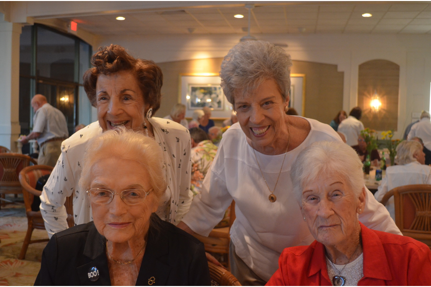Ethel Athanas, Anne Hanley, Barbara Falcone and Anne Winter