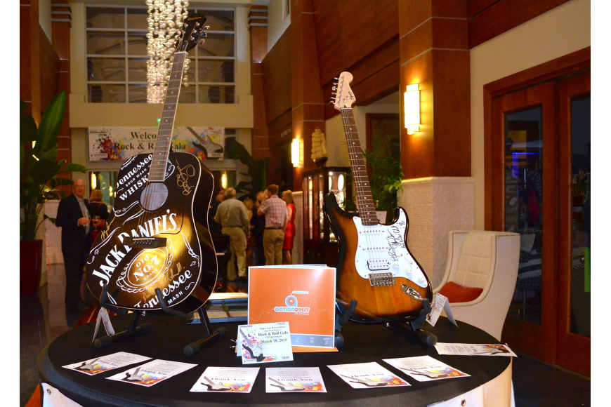 Autographed guitars, an ActionQuest Adventure in the British Virgin Islands and a seasonal membership to the Club were auctioned off at the event.