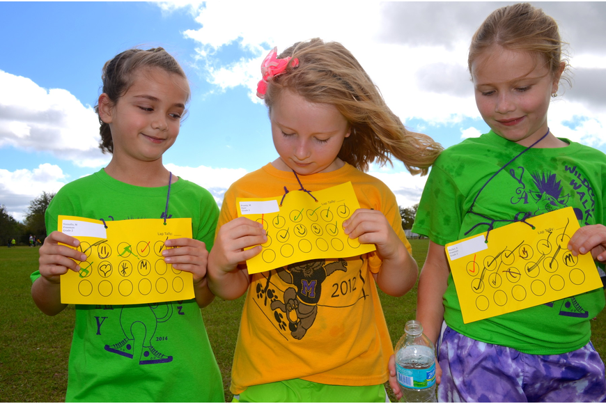Seven-year-olds Maddie Vassallo, Madison Prunty and Audrey Muller enjoy girl time.
