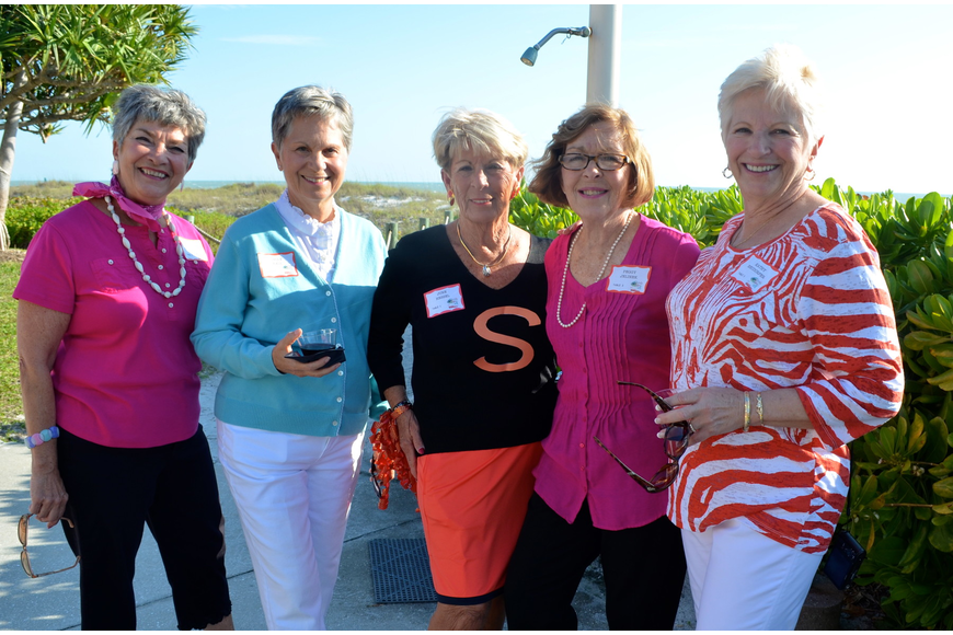 Mary Del Pup, Sally Kall, June Hessel, Peggy Jelinek and Kathy Neudorfer