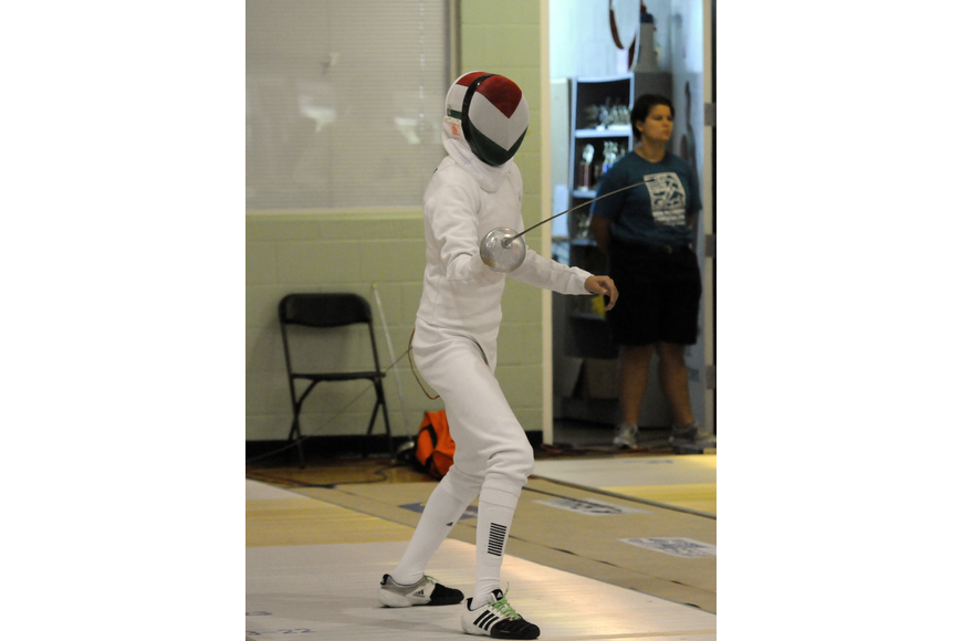 Mexico's Ismael Hernandez Uscanga was one of 22 participants who competed in the mixed relay round robin fencing event.