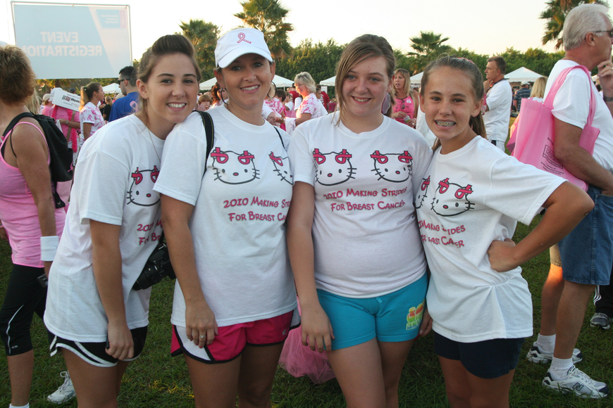 Amber Levita, 17, enjoyed walking with her mom, Nicole, friend, Alyssa Brooks, 13, and sister, Brianna, 14.