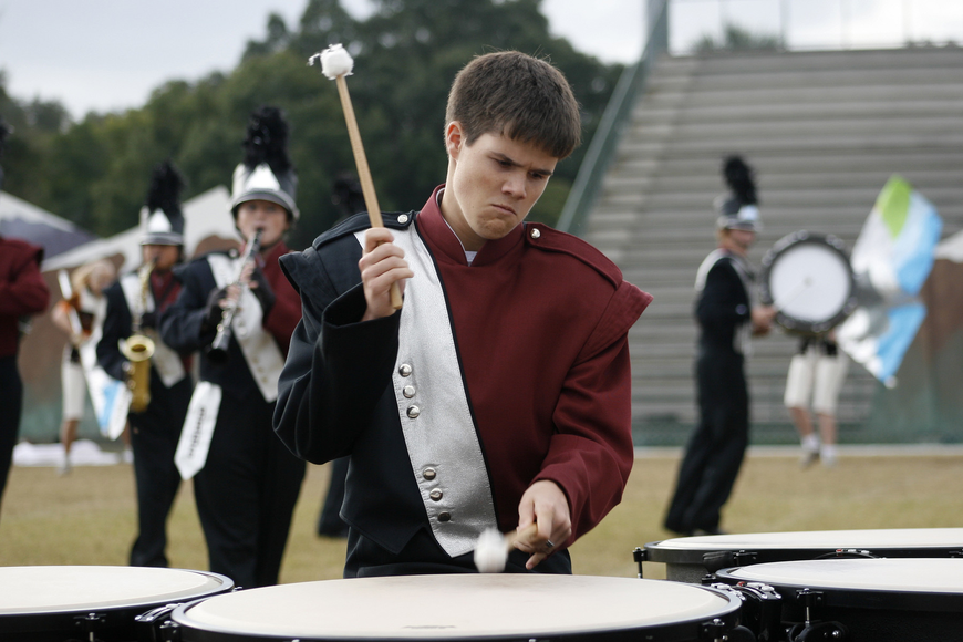 Michael Vanderford performed on the timpani this year.