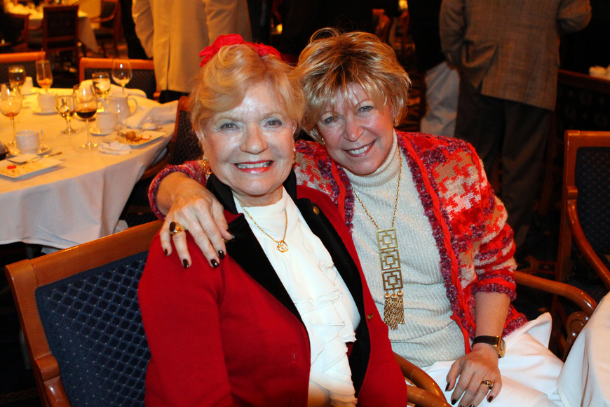 Joyce Steele and Alexandra Coles get together for a photo at Bird Key Yacht Club.