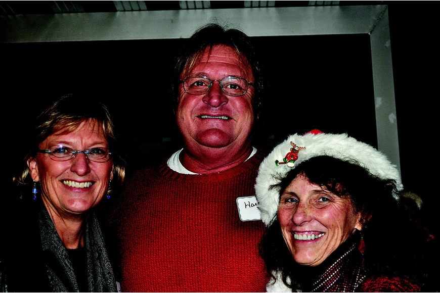 Lynn and Harry Christensen with Kim Ross
