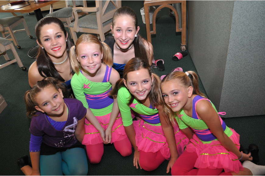 Jump Dance Company members (from left): Carly Fults, Megan Lieprandt, Emma Bramley, Ashlynn Martin, Gemma Zapatha and Grace Dunn