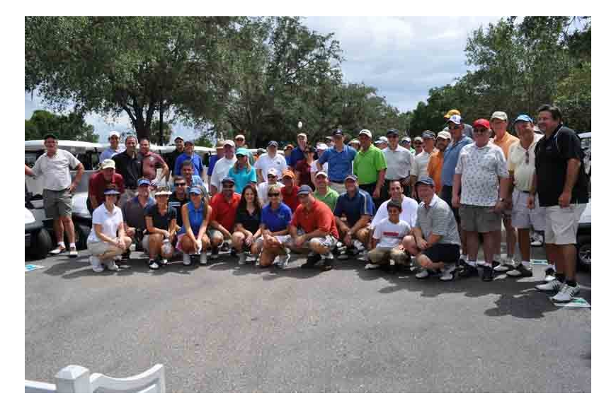 Golfers of all skill levels turned out for the tournament.