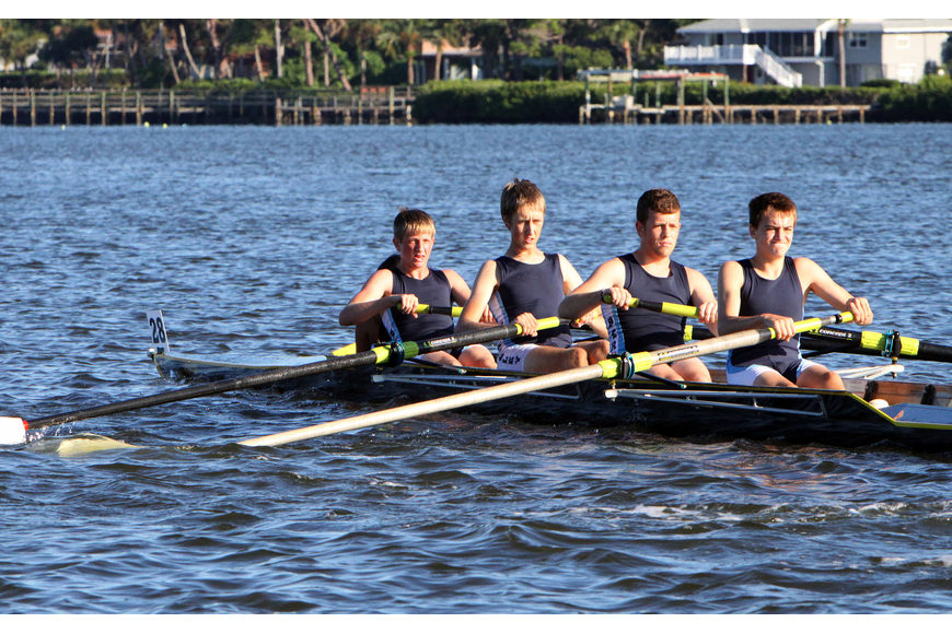 Berkeley Prep BC B came in seventh in the Mens HS 4+.