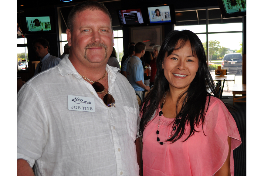 Joe Tine of Myco Tek and Selina Lum of Taste of Asia
