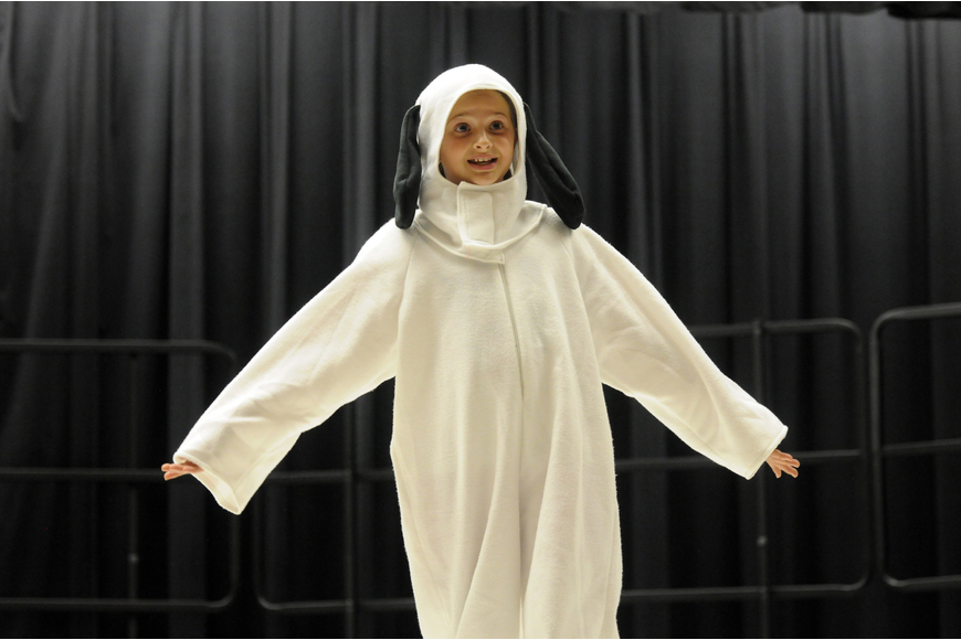 Fifth-grader Faith Jackson played the role of Snoopy.