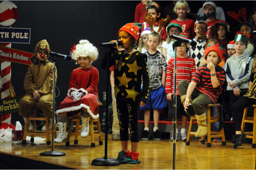 Six-year-old Maddylin Dodson played the role of Starbright, who was one of the astronomer elves.