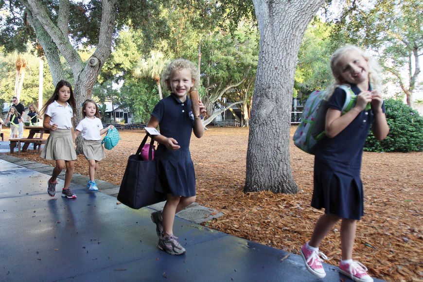 Out-of-Door Academy students headed back to class as the 2011-12 school year opened.