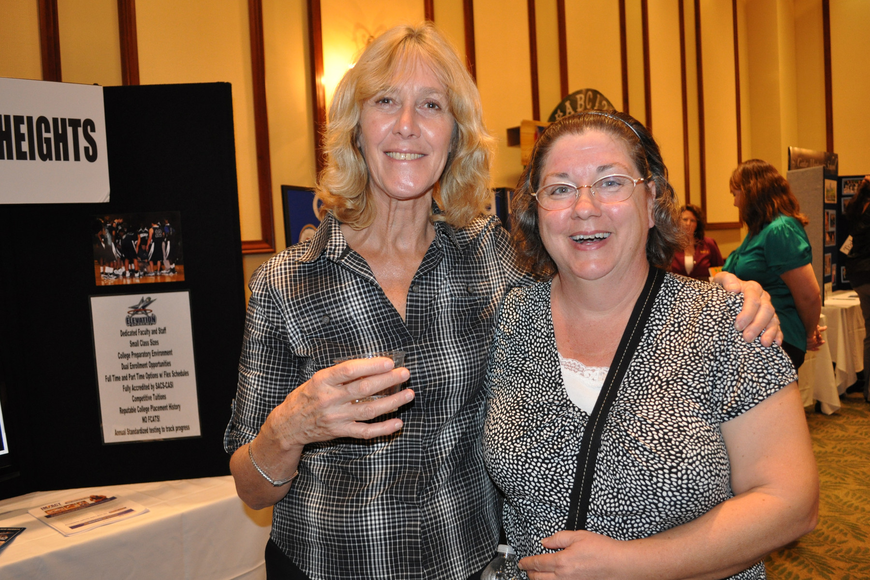 Jane Snoxell, of Elevation Academy, caught up with her friend Gail Brito, of The Prep Academy.