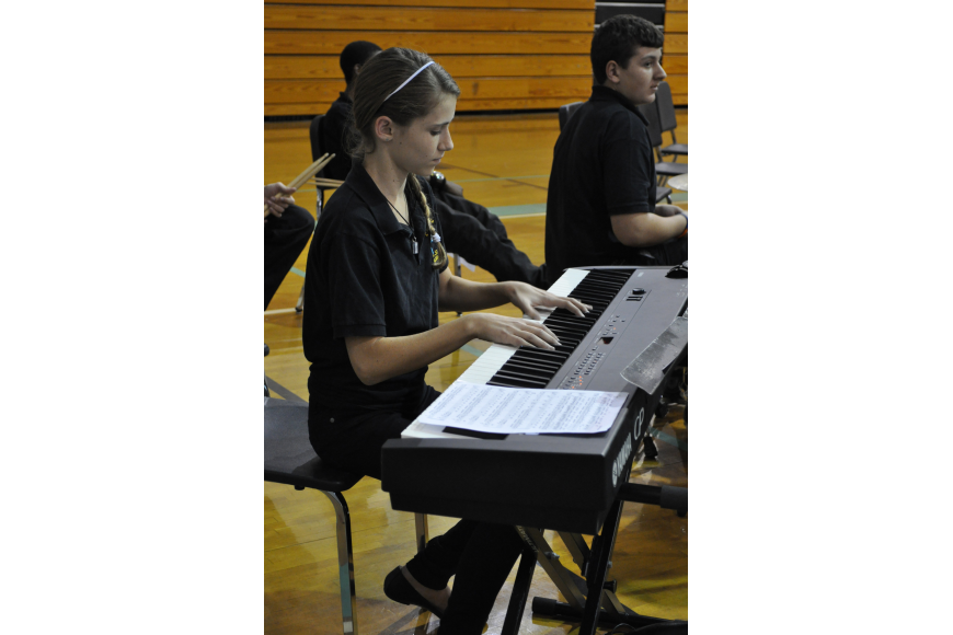 Kailyn Scully performed with the Jazz Band.