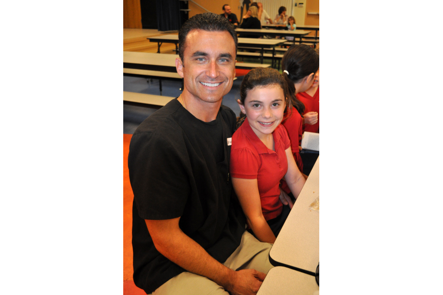 Joe Gennocro enjoyed eating lunch with his daughter Julia, who is in fifth-grade.