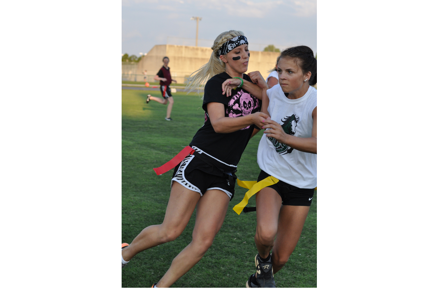 Lakewood's Lisa Ogrizovich, right, pushed through Braden River's Demi Shay-Watchorn.