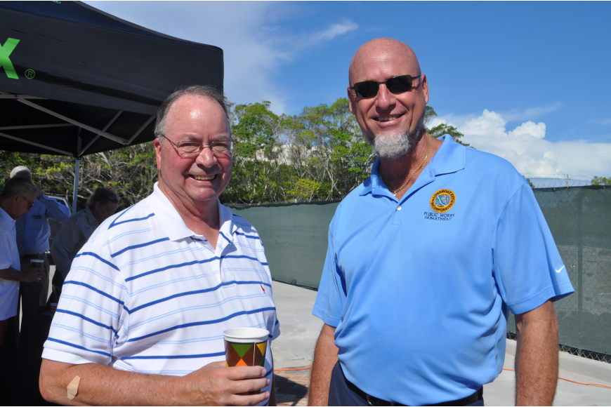 Former Commissioner Randy Clair and Longboat Key Projects Manager James Linkogle