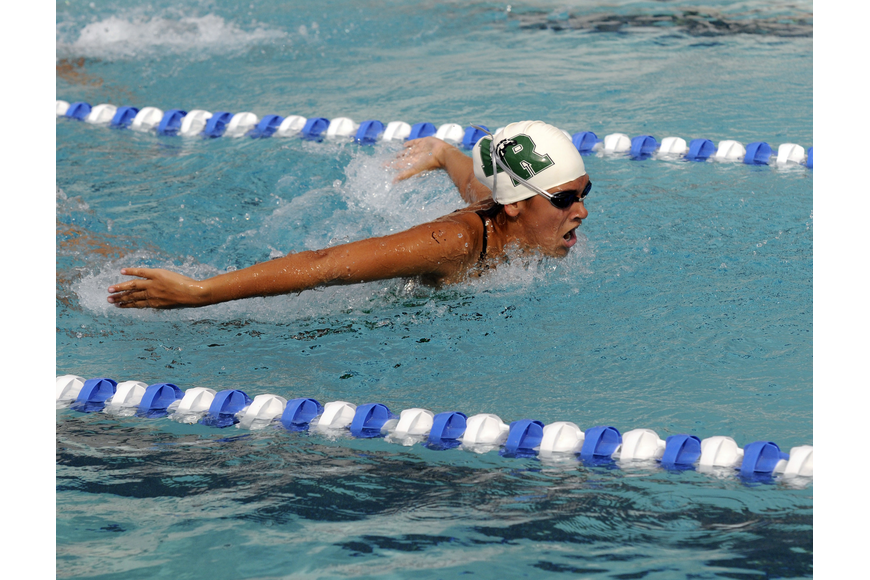 Lakewood Ranch freshman Monroe Hulbert swam the 100-yard butterfly and the 100 breaststroke.