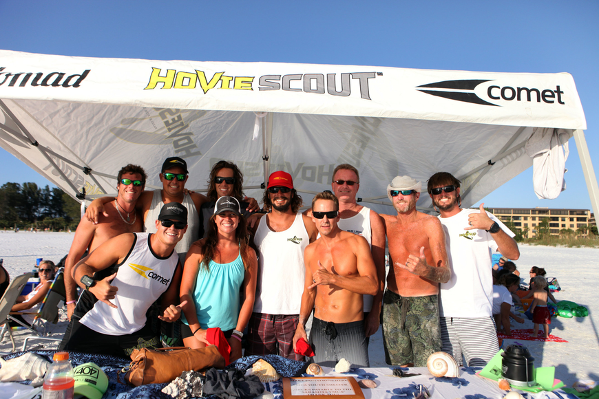 Many of the Siesta Key lifeguards came out to support Brad Ward and Robert Martini, Saturday, Oct. 13.