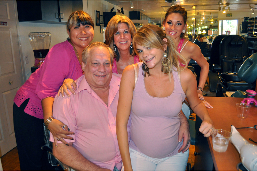Sassy Hair Salon employees Erika Lopatinsky, Larry Wilharm, Julie Bradley, Dawn Overmyer and Renee Mattos.