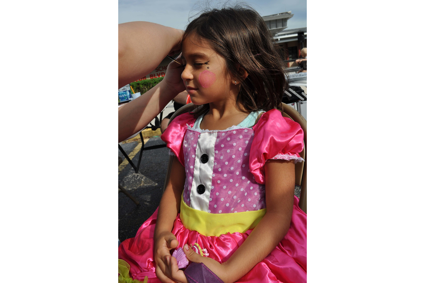 Cecilia Garcia made sure to have her face painted.