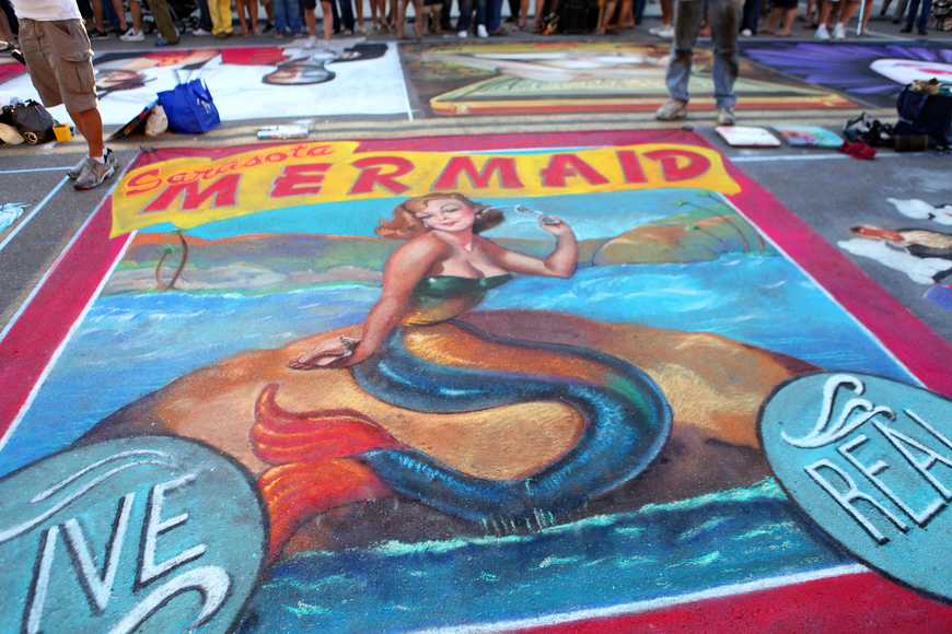 Henry Darnell's piece for the Sarasota Chalk Festival