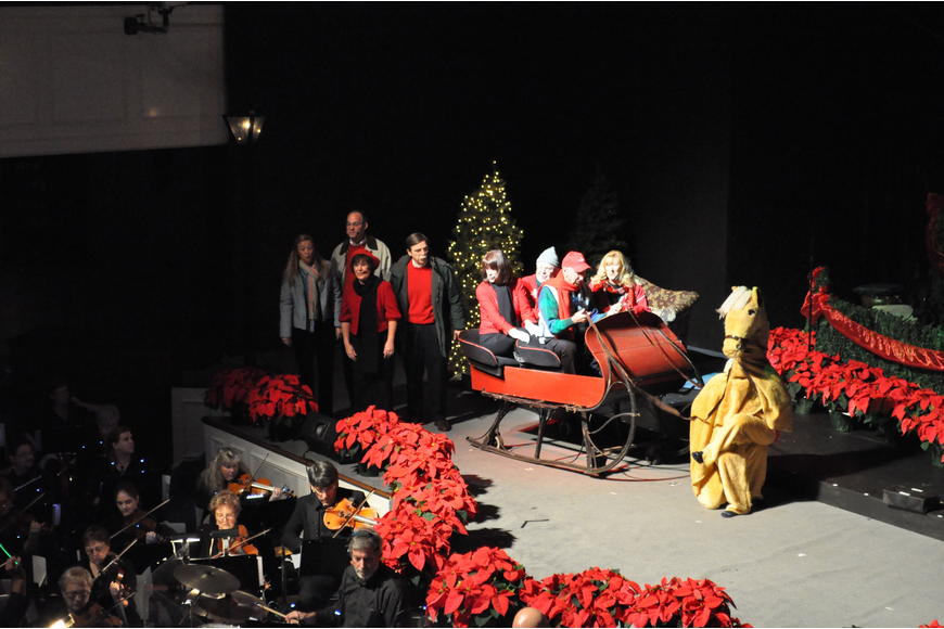 Actors from the First Sarasota Baptist Church kick off the 39th annual singing Christmas tree production.