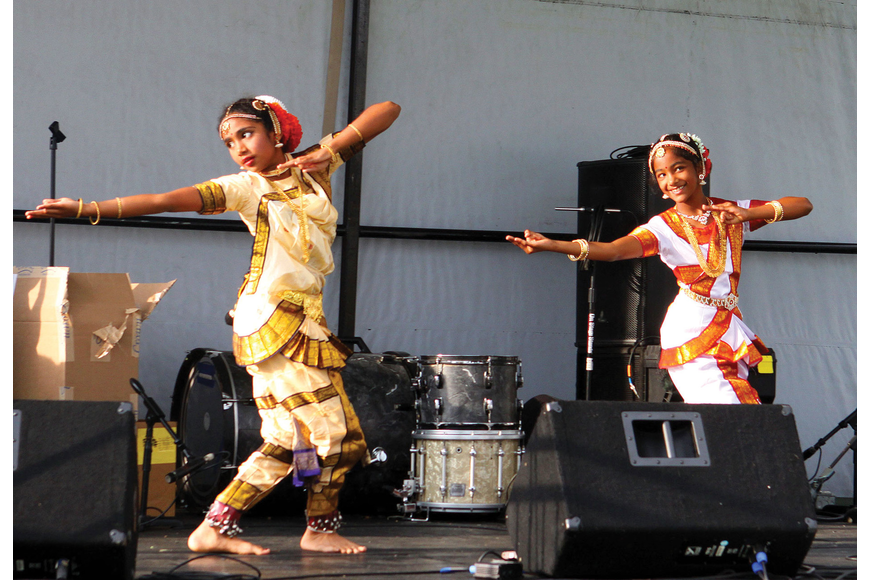 Meera Nair and Kiran Kadiyala, both 9, performed a traditional Indian dance at the 2012 Relay for Life April 28 in Downtown Sarasota.