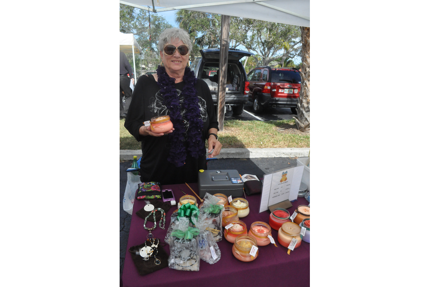 Elke Lagace, Sarasota Soap Chick, sells soy candles and organic soaps. She has been making candles and soaps close to six years.