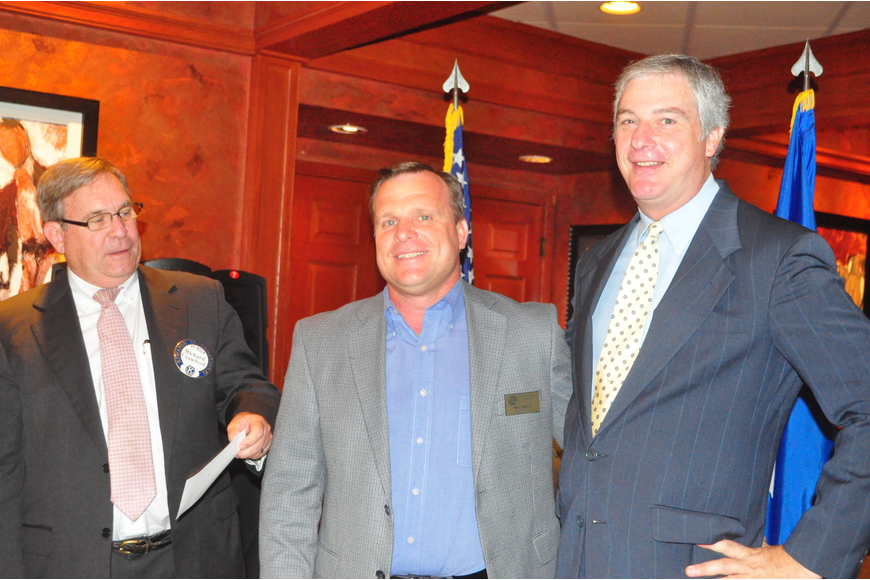 Richard Crawford with Bill Sadlo and Mike Phelan, of Boys & Girls Clubs of Sarasota County