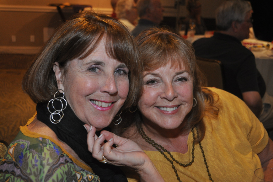 Lynn Rosen and Shelley Enlow at the Longboat Key Club Super Bowl party