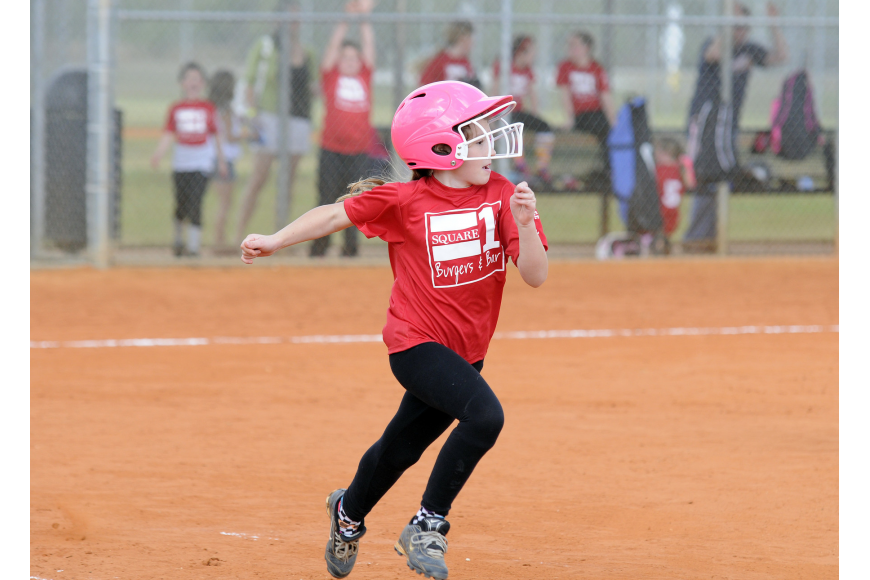 Eight-year-old Karolina Medrzycki got a hit for Square 1 Burger.
