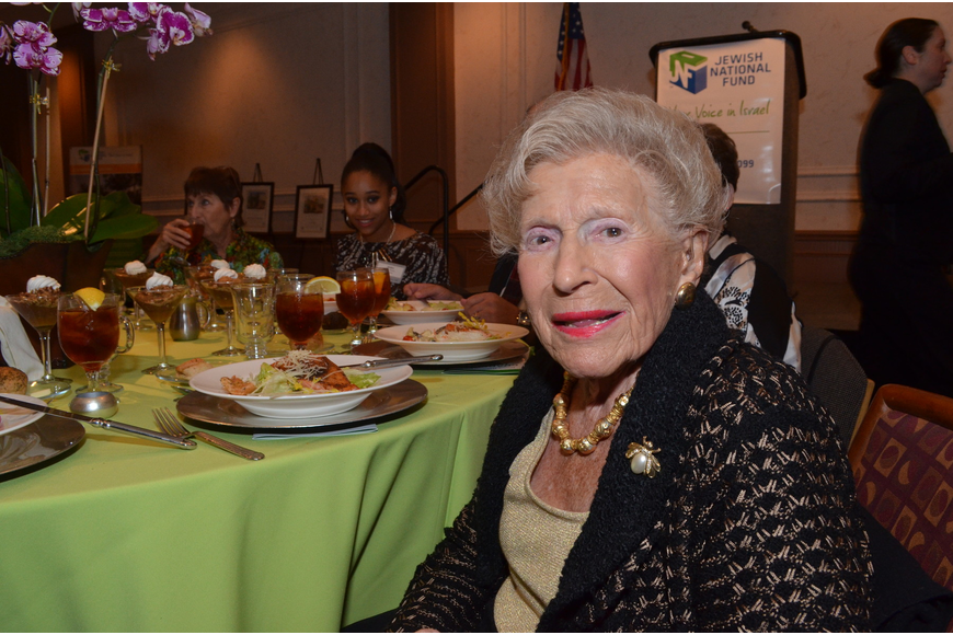 Bea Friedman came to Sarasota in 1948 the same year Israel gained its independence. She is a great philanthropist and was awarded with the Guardian of Israel award at the luncheon for her generous efforts both in Israel and Sarasota.